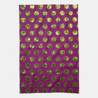 Towel Polka Dot Sparkley Jewels