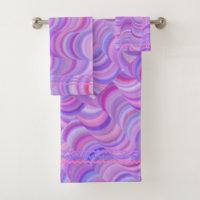 Towel Set - Purple Curves