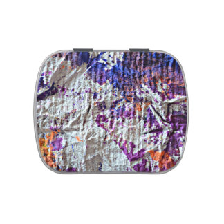 toweling paint blotches grunge look image jelly belly candy tins