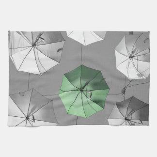 Towell verde del paraguas toalla de cocina