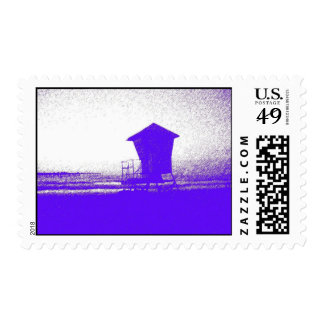 Tower #1 stipple effect postage stamps