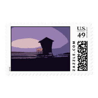 Tower #1 surfing poster postage stamps