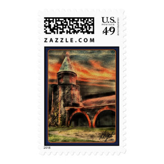 Tower and Arches at Sunset Stamp