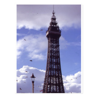 Tower and lamp post post cards
