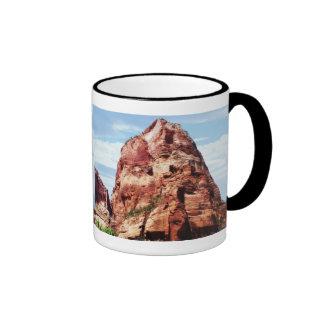 Tower at Zion National Park Ringer Coffee Mug