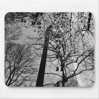 Tower behind trees mousepads