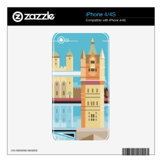 Tower Bridge 2 Decal For iPhone 4