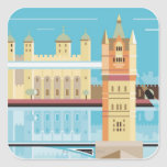 Tower Bridge 2 Square Sticker