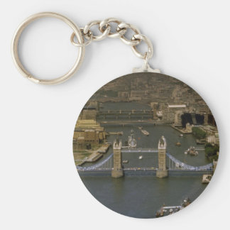 Tower Bridge, aerial view, London, England Keychain