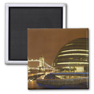 Tower Bridge, and Greater London Authority 2 Inch Square Magnet