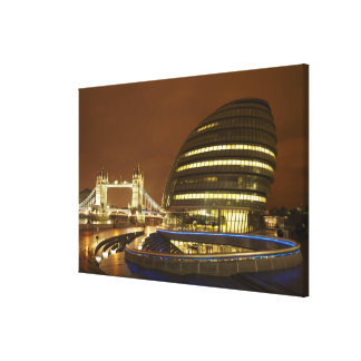 Tower Bridge, and Greater London Authority Canvas Print