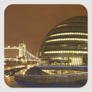 Tower Bridge, and Greater London Authority Square Sticker