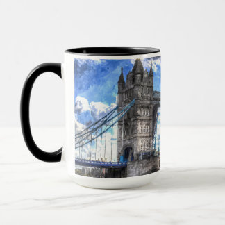 Tower Bridge and passing ship Art Mug