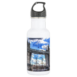 Tower Bridge and passing ship Art Water Bottle
