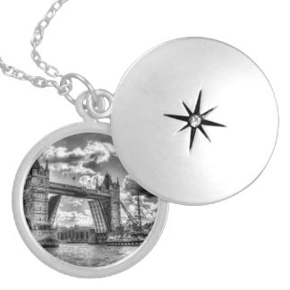 Tower Bridge and passing ship Locket Necklace
