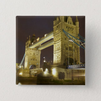 Tower Bridge and River Thames at dusk, London, Button