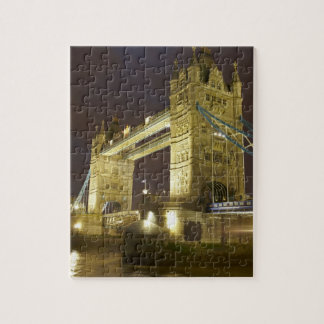 Tower Bridge and River Thames at dusk, London, Jigsaw Puzzle