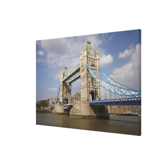 Tower Bridge and River Thames, London, Canvas Print