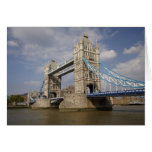 Tower Bridge and River Thames, London, Card