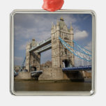 Tower Bridge and River Thames, London, Metal Ornament