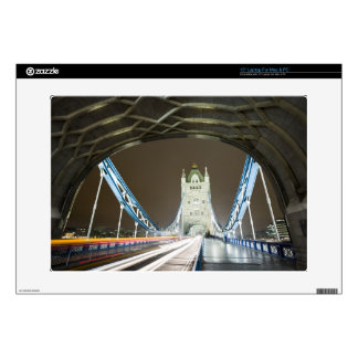 Tower Bridge and Thames River at Dusk Decals For Laptops
