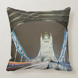 Tower Bridge and Thames River at Dusk Throw Pillow