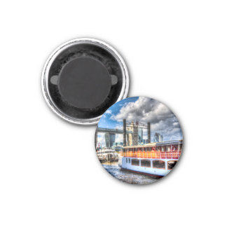 Tower Bridge and the Elizabethan 1 Inch Round Magnet