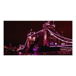 Tower Bridge And The Girl and Dolphin Statue Card