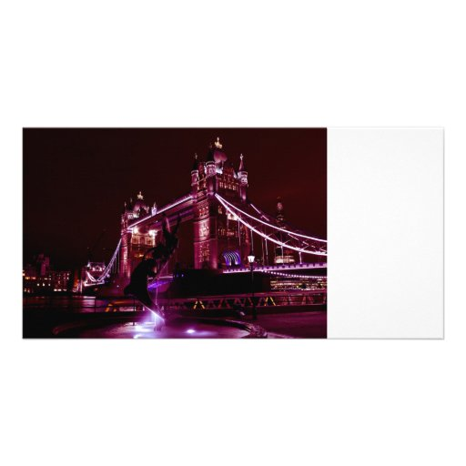 Tower Bridge And The Girl and Dolphin Statue Photo Cards