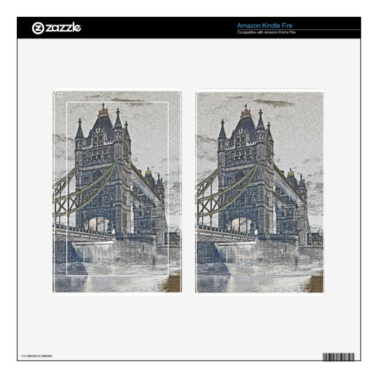 Tower Bridge art Decals For Kindle Fire