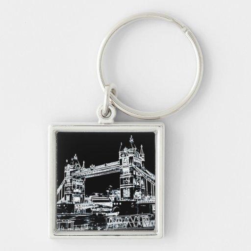Tower Bridge art Keychains