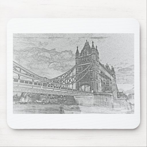 Tower Bridge Art Mouse Pad