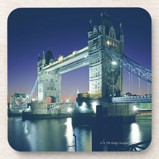 Tower Bridge at Dusk Beverage Coaster