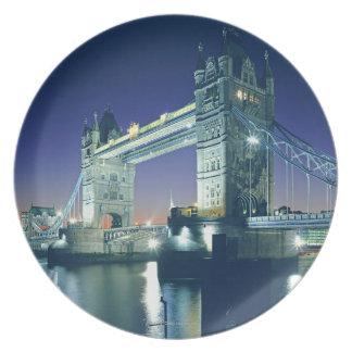 Tower Bridge at Dusk Dinner Plate
