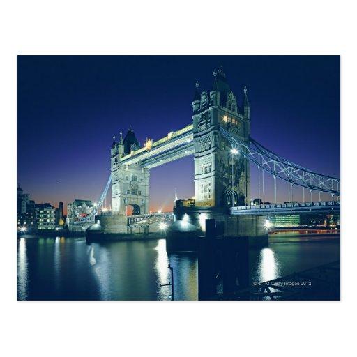 Tower Bridge at Dusk Postcard