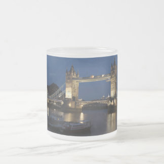Tower Bridge at Night 10 Oz Frosted Glass Coffee Mug