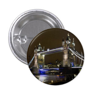 Tower Bridge at night Pinback Buttons