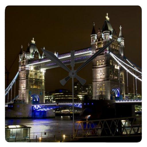 Tower Bridge at night Clocks