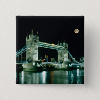 Tower Bridge at Night, London, England Button
