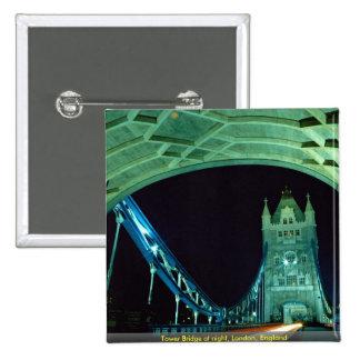 Tower Bridge at night London England Pin