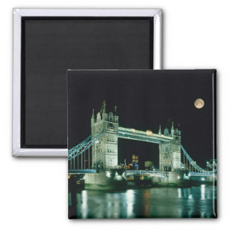Tower Bridge at Night, London, England Magnets