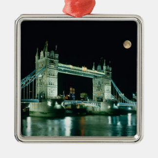 Tower Bridge at Night, London, England Metal Ornament
