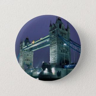 Tower Bridge at night, London, England Pinback Button