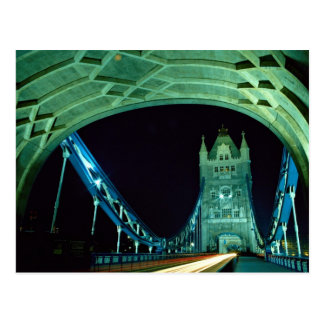 Tower Bridge at night, London, England Postcard
