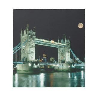 Tower Bridge at Night, London, England Scratch Pads