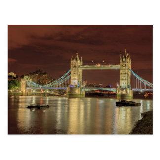 Tower Bridge at night, London Postcard
