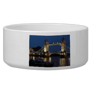 Tower Bridge at Night Dog Water Bowls