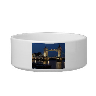 Tower Bridge at Night Pet Water Bowl