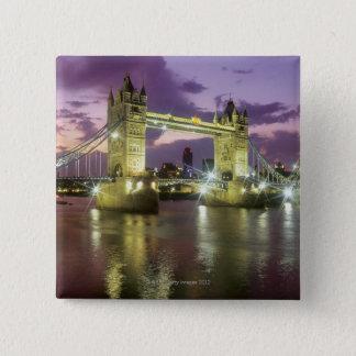 Tower Bridge at Night Pinback Button
