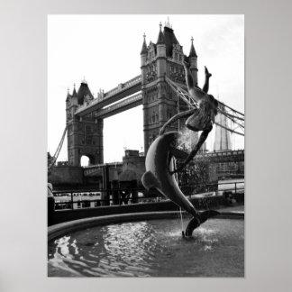 Tower Bridge Black and White Poster